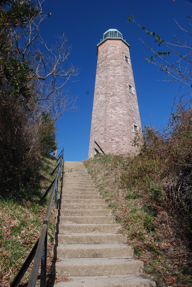 old cape henry lighthouse  fort story  virginia