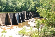The dam on this branch of the Little River just above DeSoto Falls