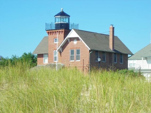Sea Girt Lighthouse viewed from the beach,